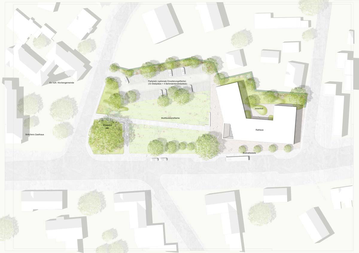 Lichtenstein Wettbewerb - Rathaus Rosengarten