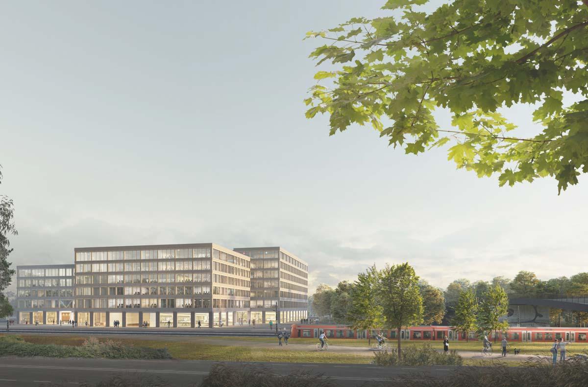 Prämierter Entwurf für den hit-Technopark
